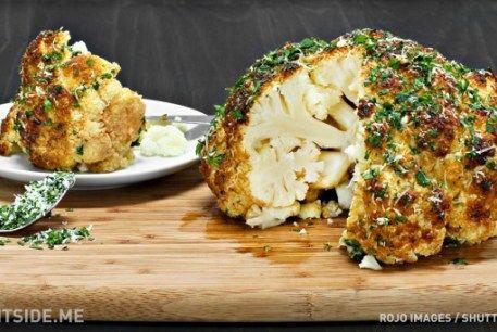 Una increíble receta de coliflor al horno que no havías probado antes. Facil de preparar y rica en fibras. A que esperas?