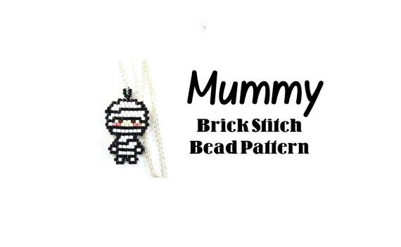 Mummy Seed Bead Pattern Brick Stitch Bead Weaving