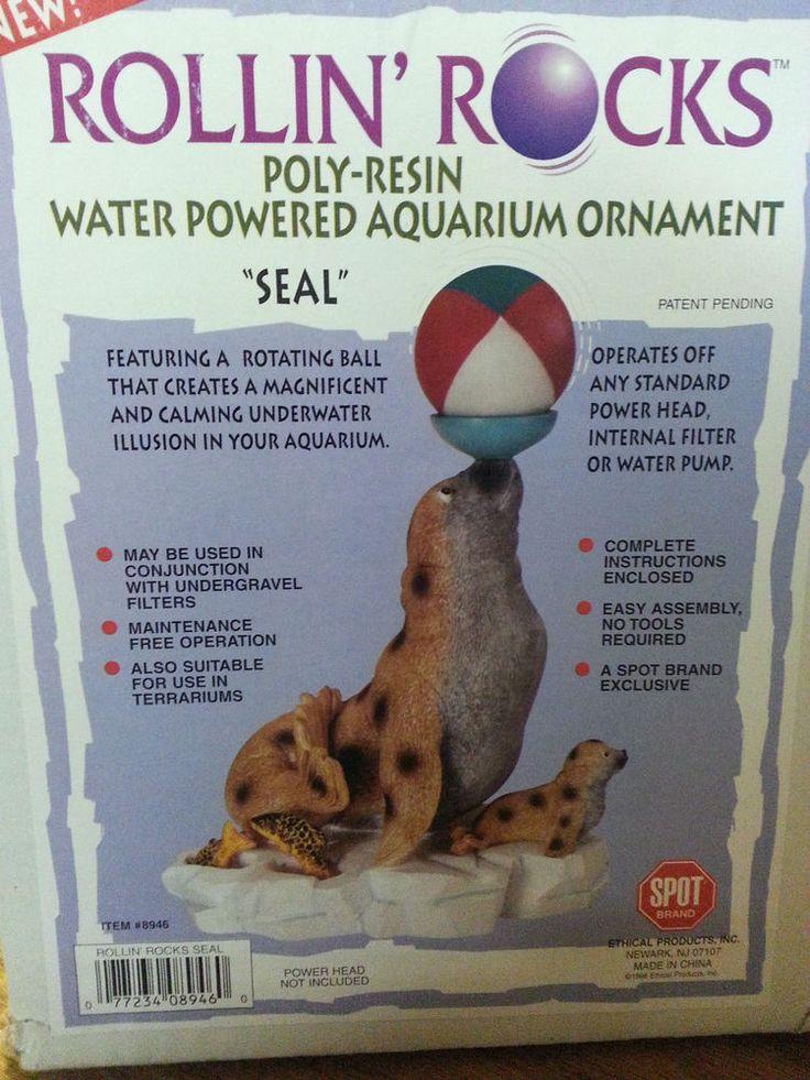 Rollin 39 rocks poly resin water powered aquarium ornament for Aquarium decoration sealant