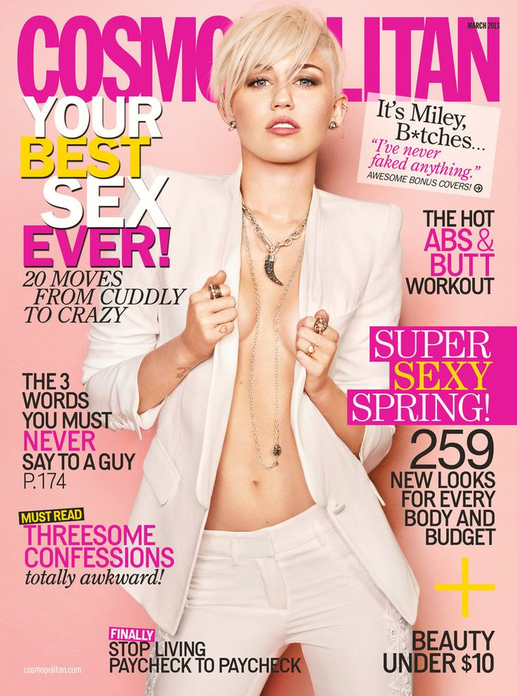 Miley Cyrus in Cosmopolitan Magazine March 2013 - click for quotes and inside images!