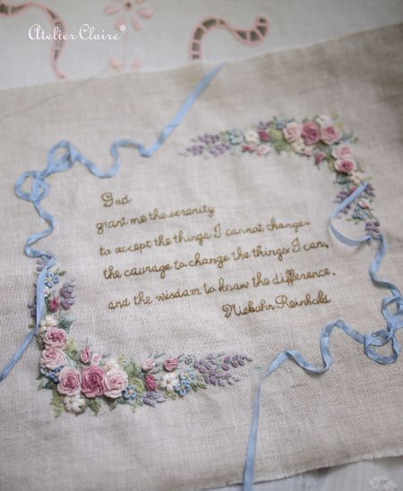 暮らしを彩る刺繍&カルトナージュ : 東京・自由が丘 井上ちぐさの刺繍&カルトナージュ教室 Atelier Claire(アトリエクレア)