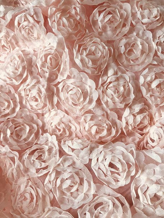 Bridal Flowers Tulle DOUBLE ROW Chiffon Rosette Rose Flower Lace Fabric Trim