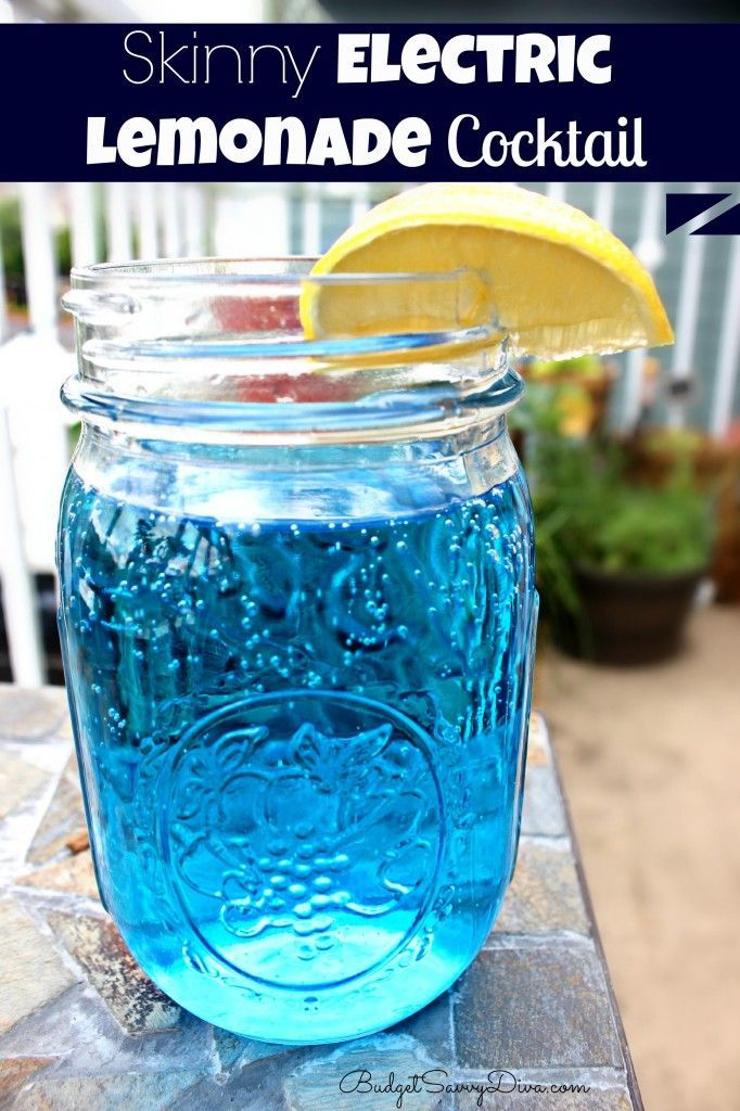 Skinny Electric Lemonade Recipe. This   would be great frozen in a zip lock bag for the beach!