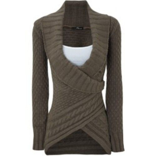 Wrap sweater. Want!