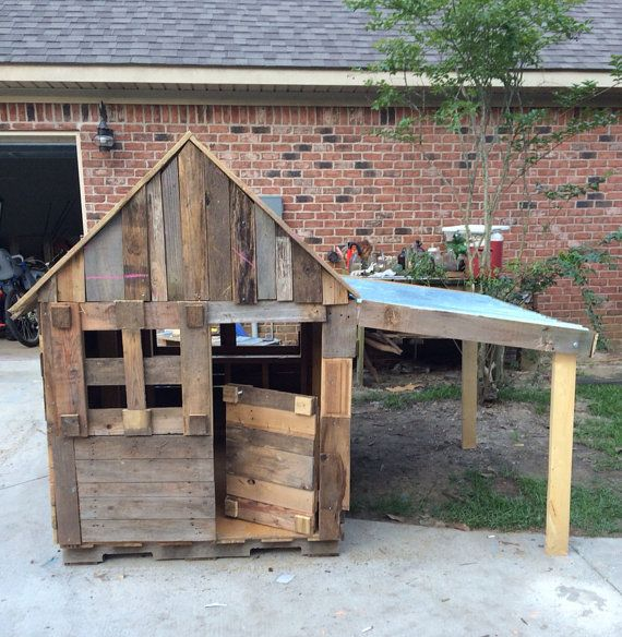 Children outdoor playhouse. ,Recycled wood ,summer play, vintage,lawn and garden,girls,boys,children,toddlers ,toys,gift, dog house, pets on Etsy, $799.00