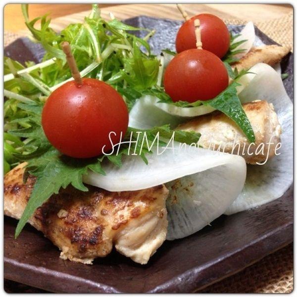 おうちカフェに~!ササミの塩麹焼きお野菜ピンチョス