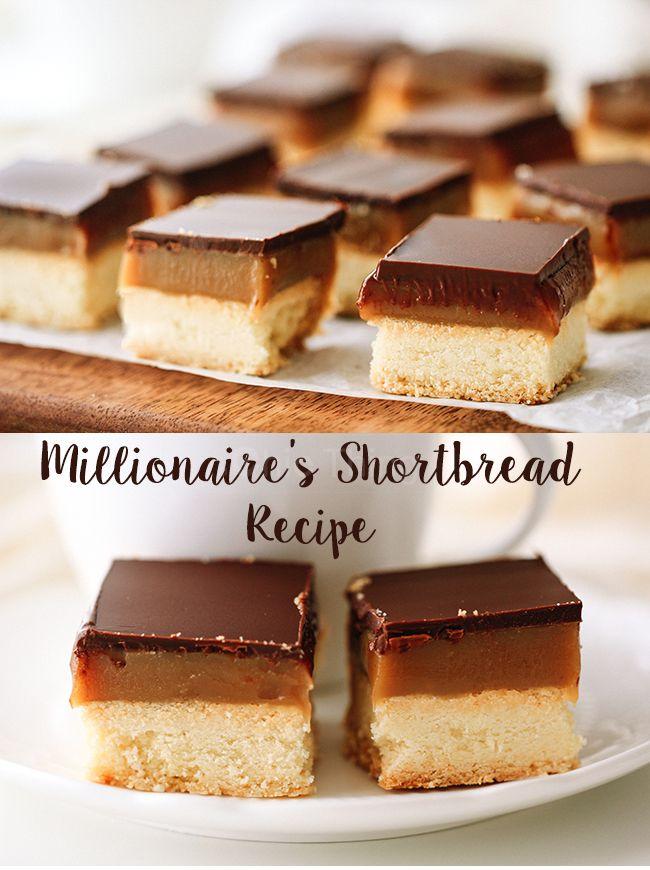 بسكويت المليونير بالكراميل Millionaire Shortbread Recipe Shortbread Recipes Millionaire Shortbread