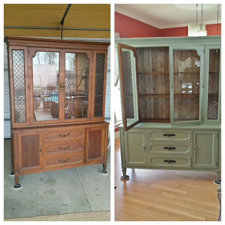 Redone china hutch with amy howard chalk paint rescue for Amy howard paint kitchen cabinets