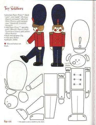 Toy soldier paper pattern: Toy Soldier Craft, Christmas Toy Soldiers ...