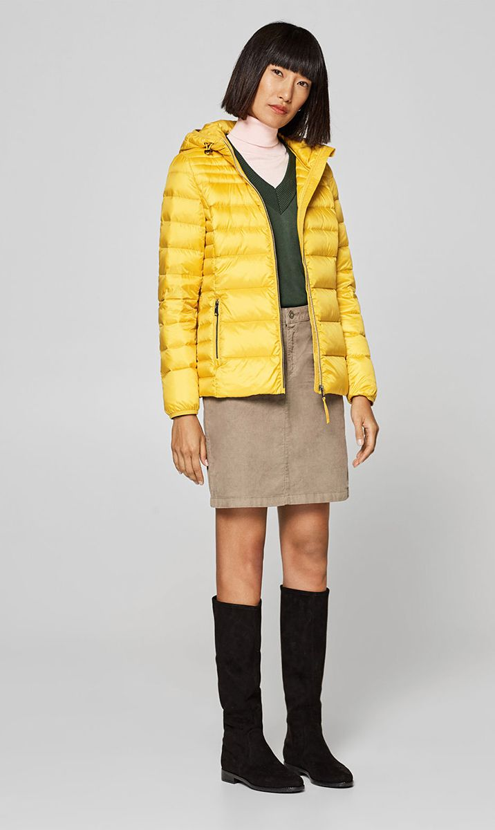 Esprit Outerwear Yellow Jacket Outerwear Outfit Fashion Jackets For Women [ 1200 x 716 Pixel ]