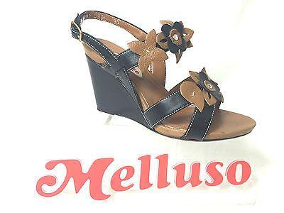 MELLUSO SANDALO COLORE NERO RIPORTI CUOIO ZEPPA H 8  MADE IN ITALY in Abbigliamento e accessori, Donna: scarpe, Sandali e scarpe da mare   eBay