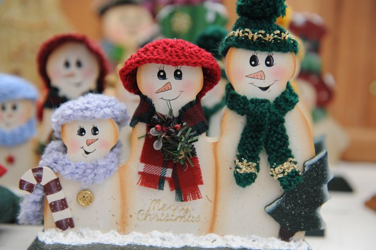 Hand made Christmas decorations - so cute!
