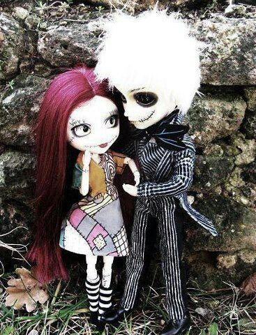 Dark Art: Jack & Sally dolls....theyre so creepy i love em!!
