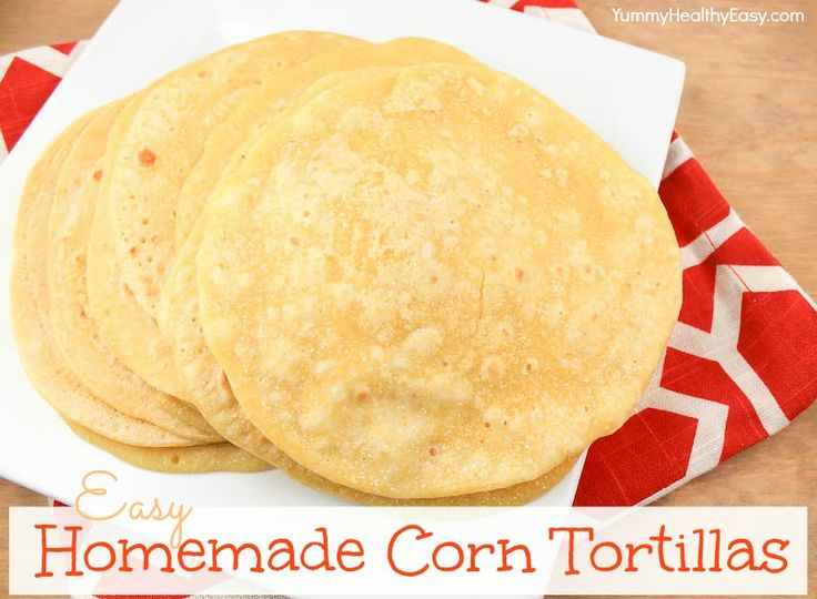 Homemade Corn Tortillas | Easy. Homemade. And much better for you than the store bought that have a long list of preservatives.