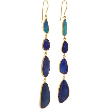 Pippa Small Opal Four-Drop Earrings