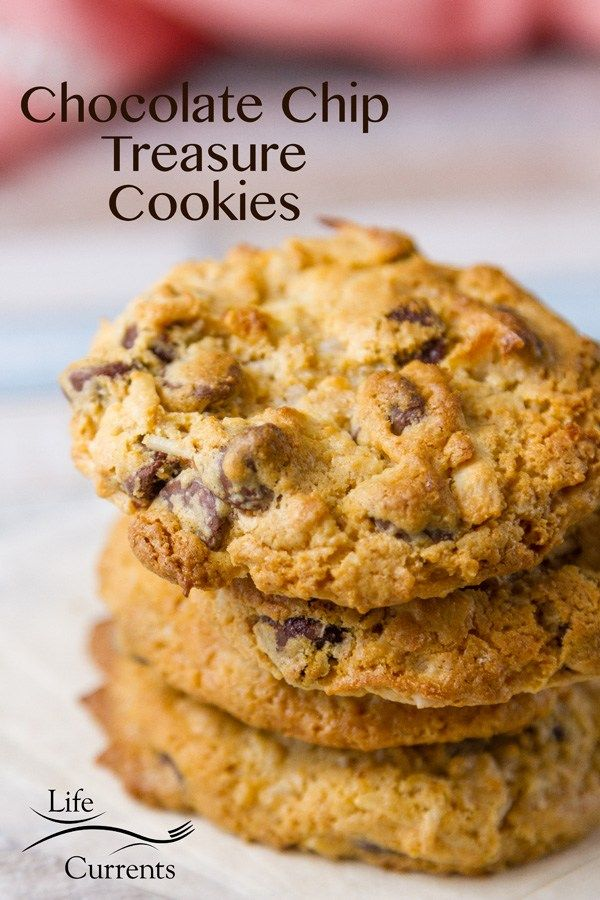 These Easy To Make Fun Chewy Chocolate Chip Treasure Cookies Are Loaded With Goodies Lik Best Cookie Recipes Cookie Exchange Recipes Cookies Recipes Christmas