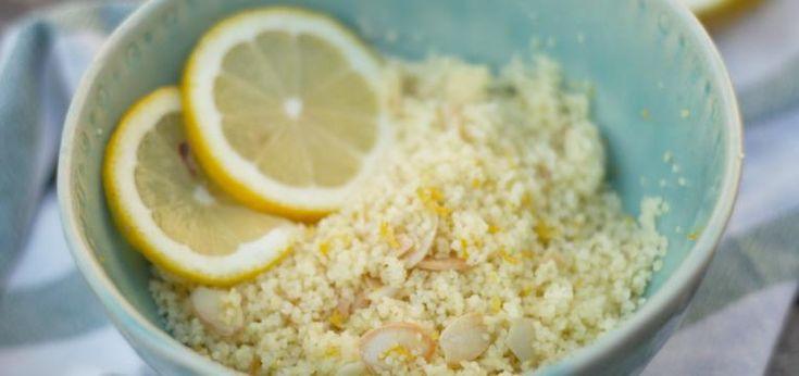 couscous com limao e amendoa