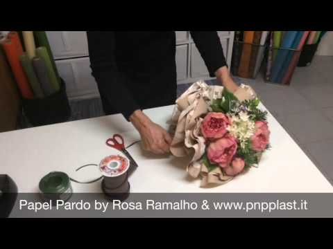 Wrap a bouquet #wrapflowers - YouTube
