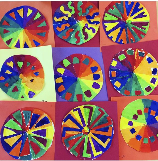 Third Grade Color Wheel Projects Found On Hufmanartroom Instagram