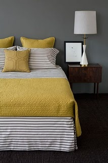 bedroom colors I've said it so many times but I LOVE LOVE LOVE Yellow and Grey!
