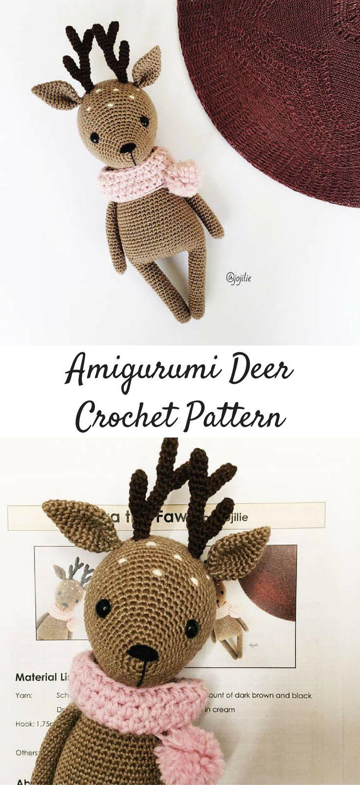 Amigurumi deer crochet pattern #ad #amigurumis #amigurumidoll #amigurumilove #amigurumitoy #amigurumipattern #crochet #crochetaddict #crochetlove #crochetpattern