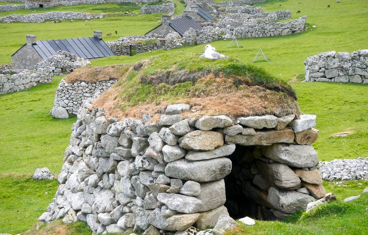 Ancient living cell on Hirta, St. Kilda.