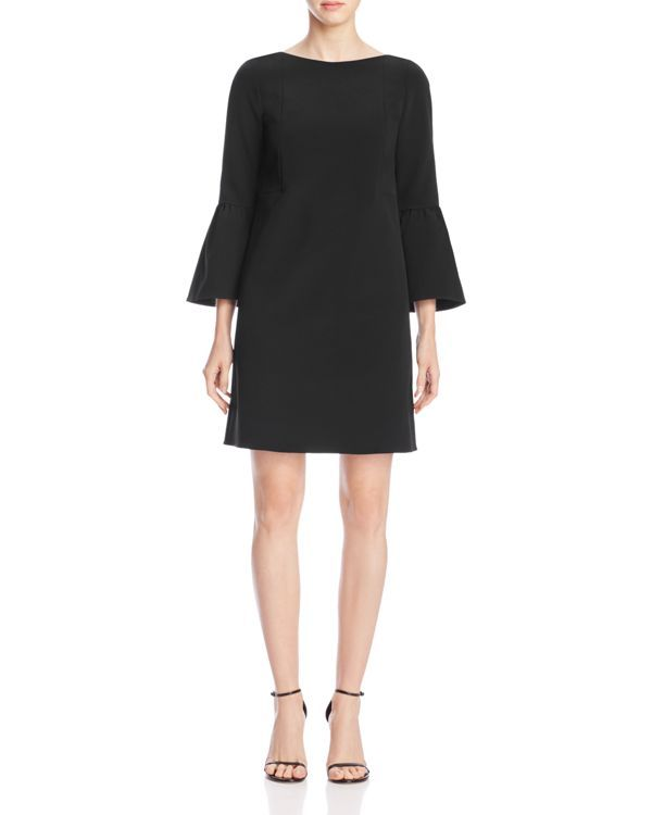 Lafayette 148 New York adds a little feminine flair to this retro-inspired Lbd…
