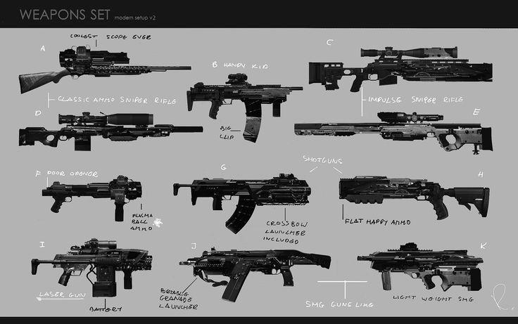 ArtStation - Weapon set v2 , Marcin Rubinkowski