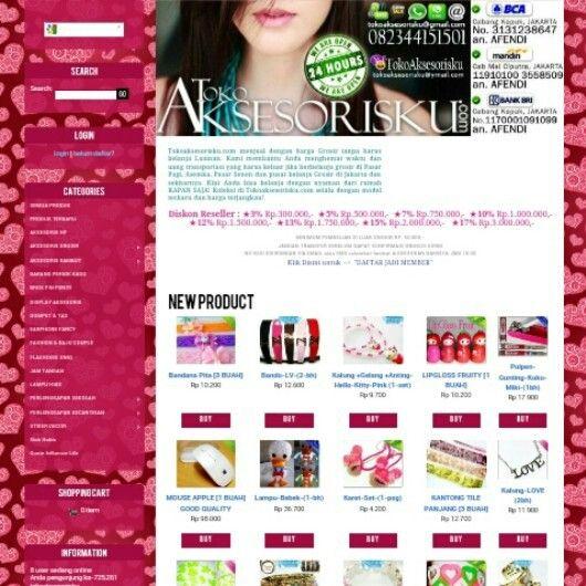 New Look of www.TOKOAKSESORISKU.com★HP.082344151501 [Kakao|Line|Whatsaap|Sms|Call] #website#Toko#Toko_AKsesoris #GrosirPasarPagi#Grosir_Asemka  #GrosirMurah#Grosir_Aksesoris_Wanita #Grosir_Aksesoris #Kalung #Gelang #Cincin #Anting #Giwang #Barang_Fancy #PernakPernik #Pernik_Lucu #Pernik_Unik #Accecories #Jewerly #Fashion