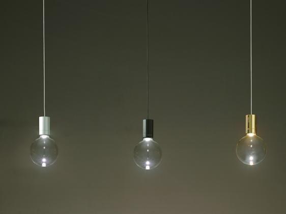Idealed wisząca (Złota, Ze szklaną bańką) - Vesoi | Designerskie Lampy & Oświetlenie LED