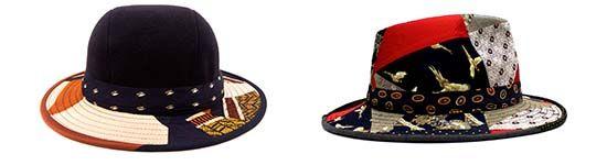 Alte Krawatten erstrahlen in neuem, wunderschönen Kopfschmuck.