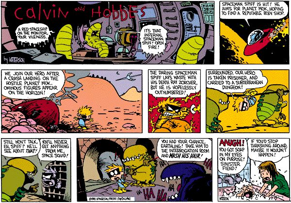 Calvin and Hobbes Comic Strip, March 27, 1988 on GoComics.com