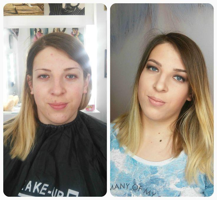 До и после) MakeUp by me  #high_heeled #hheeled #beautyblog #makeup #mua #макияж #визаж #boykobeautyschool #художникпомакияжу #визажисткиев #визажист #визажкиев #макияжкиев #katerina_trukhanova