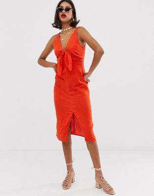bdea45fad86 DESIGN twist front midi sundress in cheesecloth in 2019