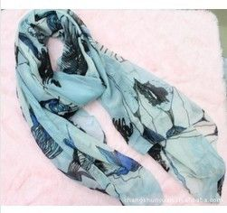 Free Shipping Chinese flowering crab-apple women fashion Cotton and linen Scarf, Silk scarves,Large size
