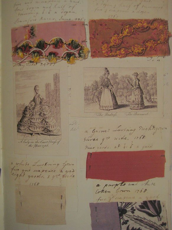 1753, A British reverend's daughter named Barbara Johnson (1738-1825) kept a meticulous diary throughout most of her life of the fabrics she used and details of the garments she made with them.Textile Inspiration for CAPI ::: Create Art Portfolio Ideas @ milliande.com , Art School Portfolio Work