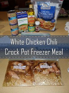 Growing to Four: White Chicken Chili Crock Pot Freezer Meal