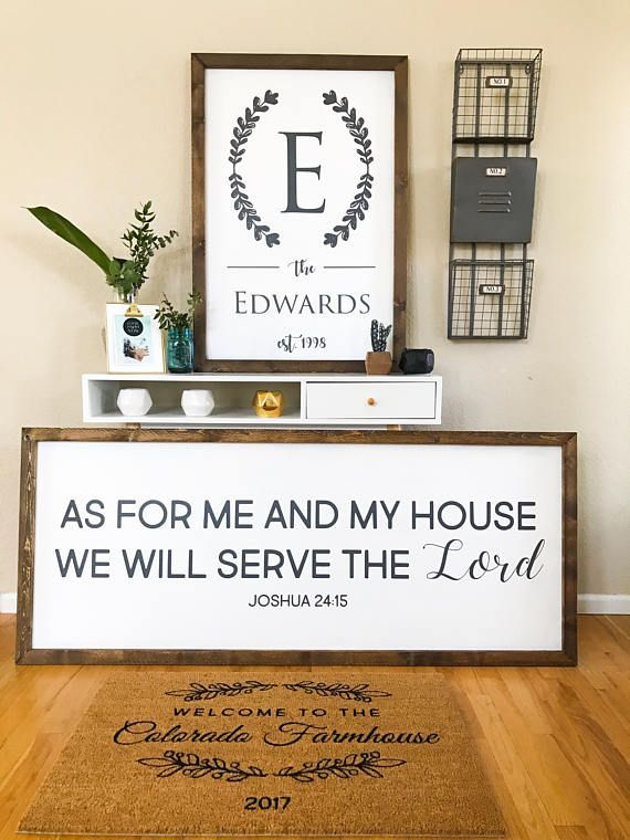 Framed Family Established Sign, Last Name Sign, Farmhouse Style Sign ...