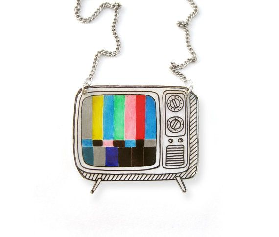 Hey, I found this really awesome Etsy listing at https://www.etsy.com/listing/203549982/retro-tv-shrink-plastic-necklace