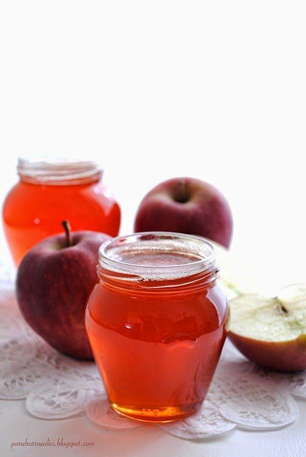 Pane, burro e alici: Gelatina di mele rosse