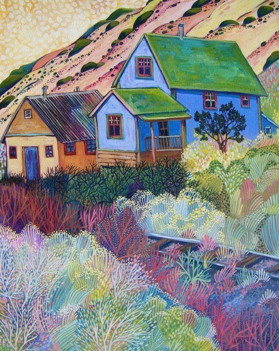 The Purple House of Madrid, New Mexico ~ Sally Bartos Fine Art