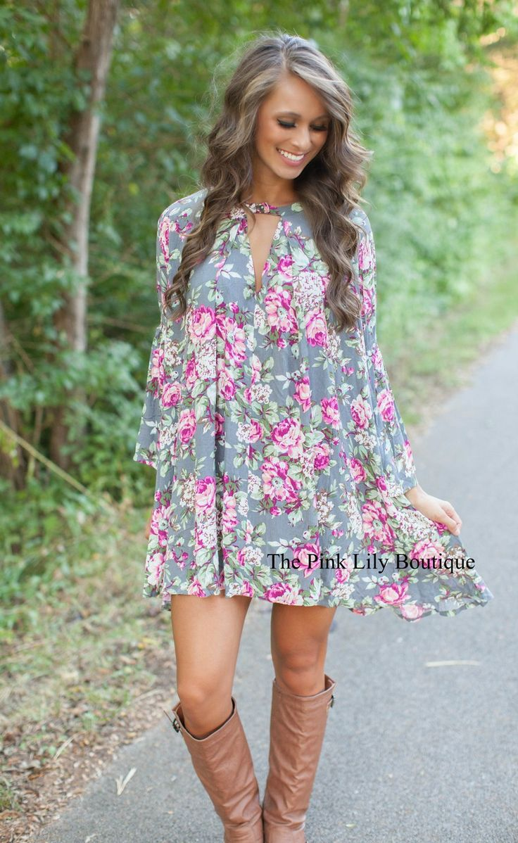 The Pink Lily Boutique - Floral of the Story Dress, $36.00 (http://thepinklilyboutique.com/floral-of-the-story-dress/)