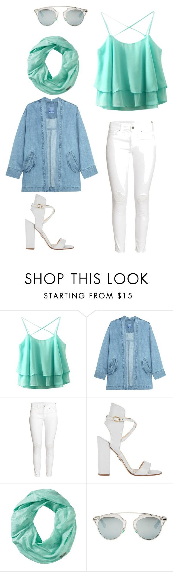 Mint in the city by citrarizkiamalia on Polyvore featuring beauty, Smartwool, Christian Dior, Steve J & Yoni P, H&M and Paul Andrew