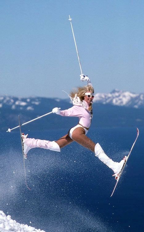 Vintage Ski Bunny Sking Pinterest Boots Look At And