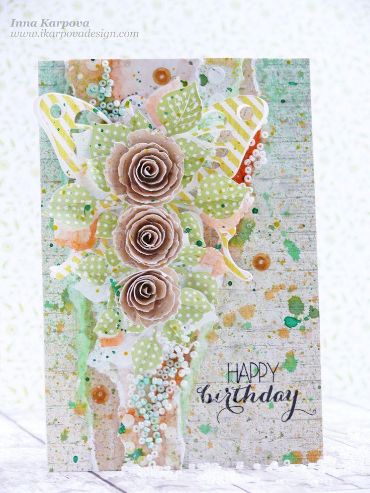 Summer happy birthday card with #lemonowl paper, #MFT #Crafty_Ann dies,  #LindysStampGang and #FD spray, #lesiazgharda stamp