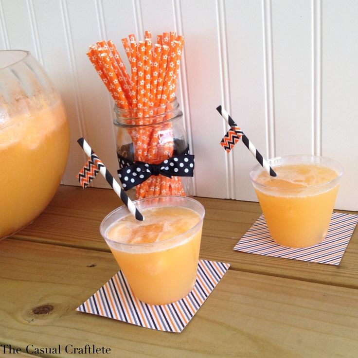 Orange Sherbet Punch - perfect for fall and Halloween