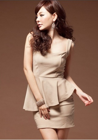Dress DS2393-Beige