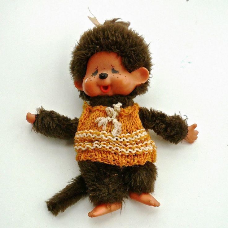 Meine Strickanfänge, ein Pullover für meinen geliebtes Monchhichi in den 80er Jahren