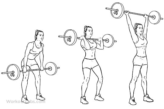 barbell clean and press    overhead press