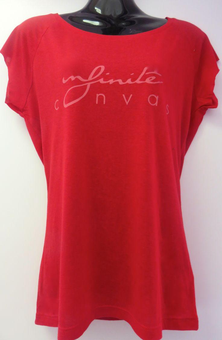 Women's red logo bamboo shirt